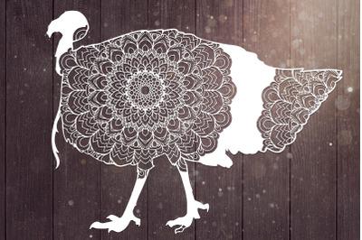 Turkey Mandala Svg, Bird Svg