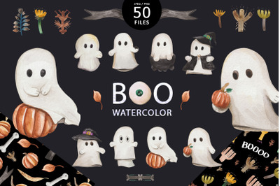 Boo watercolor