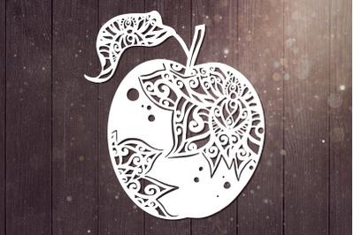 Apple Svg, Mandala Svg