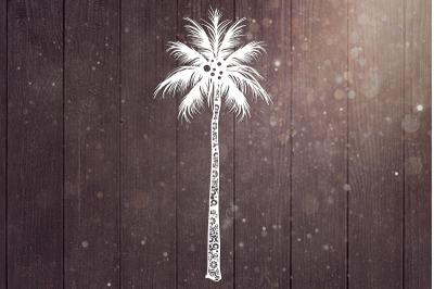 Ace Palm Tree Mandala Svg, Palm Tree Svg