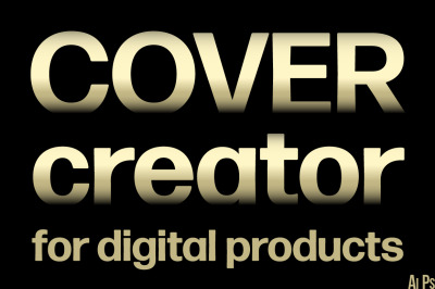 Cover creator for digital products. Text block