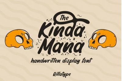 The Kindamana - Handwritten Display Font