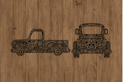Mandala Truck SVG, Truck Mandala SVG Cut Files, Truck Zentangle SVG.