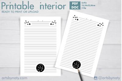 Little star Journal for KDP printable 1.
