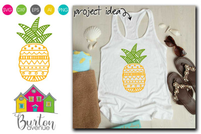 Doodle Pineapple SVG | Pineapple Theme SVG Files