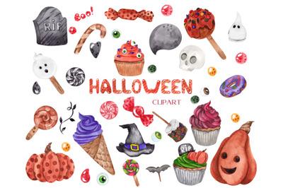 Halloween clipart. Alphabet and Illustration
