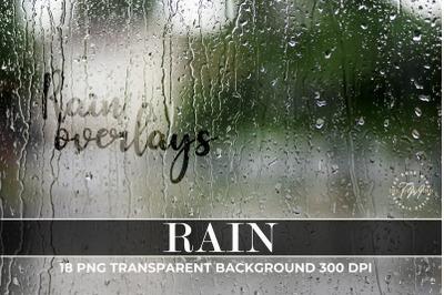 Rain Photo Light Overlays