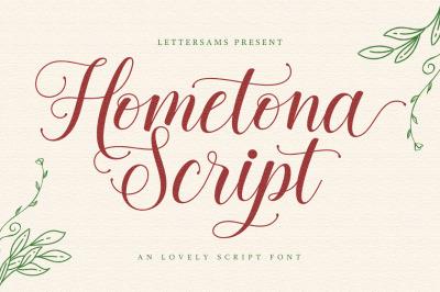 Hometona Script