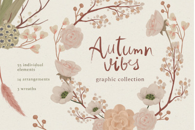 Autumn vibes graphic collection