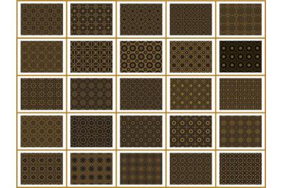 Pattern Gold Bundles 25 Ornament