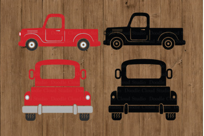 Truck SVG Cut Files, Pickup Truck Clipart, Red Truck SVG .