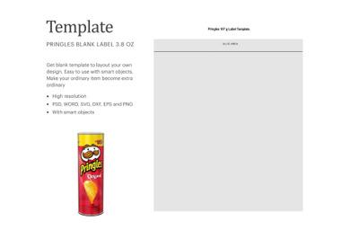 Pringles Can Label Template | Silhouette Studio | Cricut Silhouette