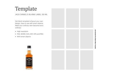 Jack Daniel's Sticker Template | Silhouette Studio | Cricut Silhouette