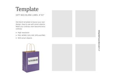 Gift Bag Label Template | Silhouette Studio | Cricut Silhouette