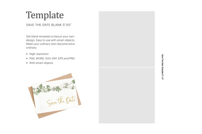 Save The Date Invitation Label | Silhouette Studio | Cricut Silhouette