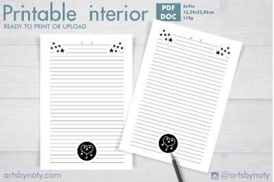 Little star Journal for KDP printable 2.