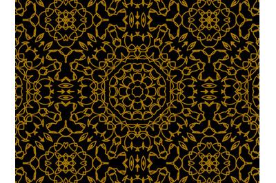 Pattern Gold Circle Ornament