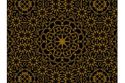 Pattern Gold Flower Motif