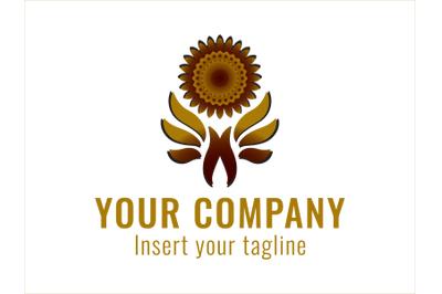 Logo Gold Sunflower Petals