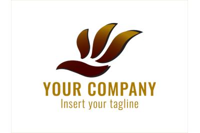 Logo Gold Flying Bird