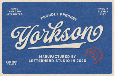 Yorkson - Script Logotype Font