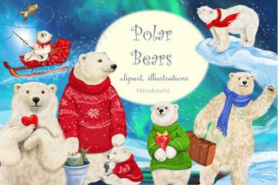 Polar Bear clipart illustrations