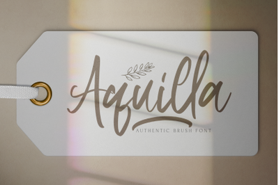 Aquilla - Brush Script Font