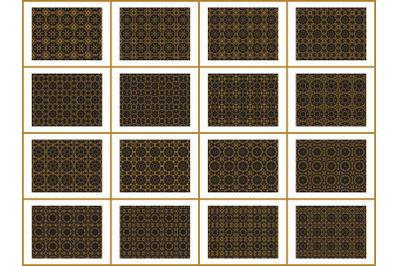 Pattern Gold Bundles 16 Ornament Circle