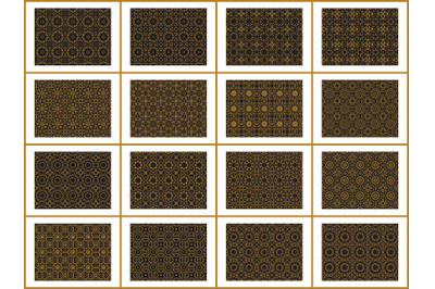 Pattern Gold Bundles 16 Ornament Abstract