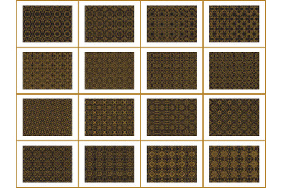 Pattern Gold Bundles 16 Line of Ornament