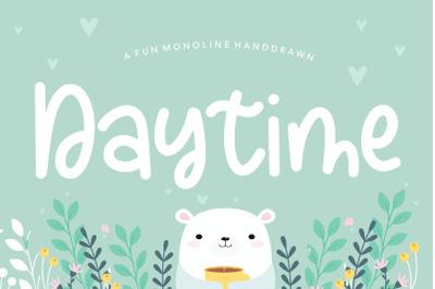 Daytime Fun Monoline Handdrawn Font