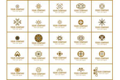 Pattern Gold Bundles 25 Ornament Circle