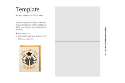 Blank Graduation Card Template | Silhouette Studio | Cricut Silhouette
