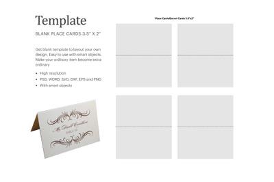 Table Tent Blank Template | Silhouette Studio | Cricut Silhouette