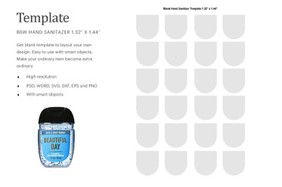 BBW Hand Sanitizer Blank Label | Silhouette Studio | Cricut Silhouette