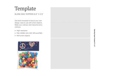 Blank Candy Bag Topper | Silhouette Studio | Cricut Silhouette