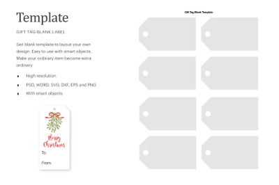 Blank Gift Tags Label Template | Silhouette Studio | Cricut Silhouette
