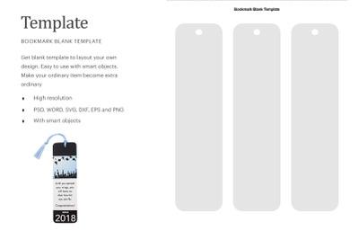 Blank Bookmark Template | Silhouette Studio | Cricut Silhouette