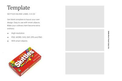 Skittles Candy Blank Label | Silhouette Studio | Cricut Silhouette