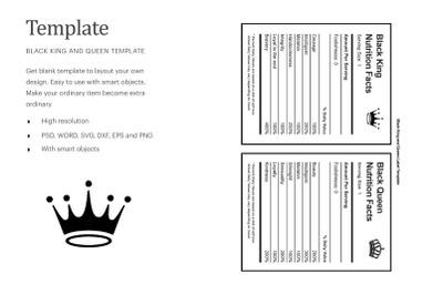 Nutrition Fact Template | Silhouette Studio | Cricut Silhouette