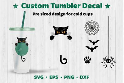 Halloween Custom Tumbler Decal.