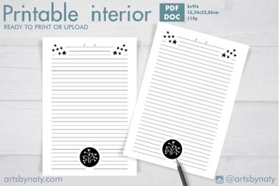 Little star Journal for KDP interior printable 3.