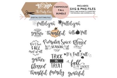 Huge Fall Bundle, Fall Svg bundle, Autumn, for cricut and  silhouette