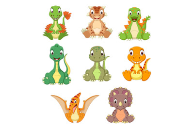 Cartoon Baby Dinosaurs Bundle