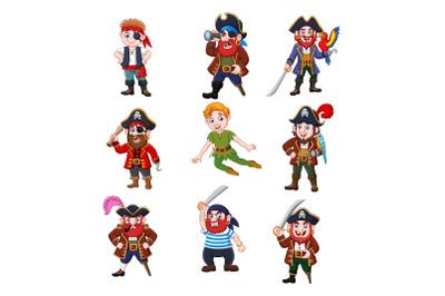Pirates Clipart Vector Set