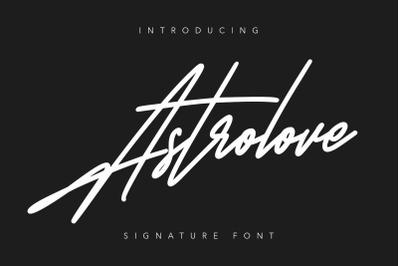 Astrolove Signature Font