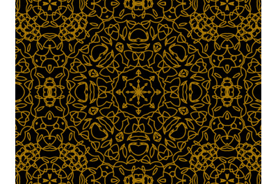 Pattern Gold Line Ornament