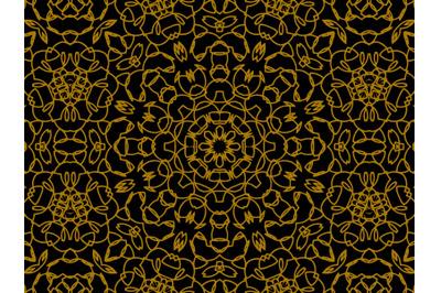 Pattern Gold Line Ornament Circle