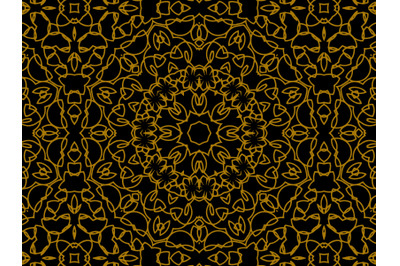 Pattern Gold Line Abstract