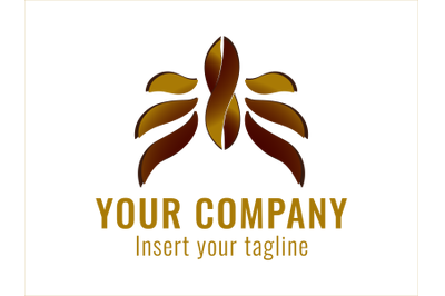 Logo Gold Winged infinite